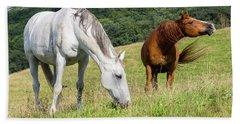 Summer Evening For Horses Beach Sheet
