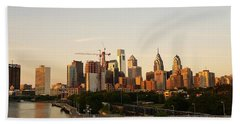Summer Evening In Philadelphia Beach Towel