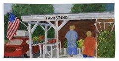 Summer Farm Stand Beach Towel