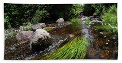 Summer Flow Of Water Near Rangeley Maine  -63322 Beach Towel