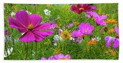 Summer Flower Garden Beach Sheet