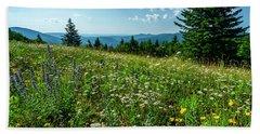 Summer Flowers In The Highlands Beach Sheet