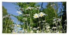 Beach Sheet featuring the photograph Summer Flowers by Kennerth and Birgitta Kullman