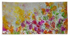 Summer Fragrance Abstract Painting Beach Towel