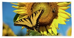 Beach Towel featuring the photograph Summer Friends by Sandy Molinaro