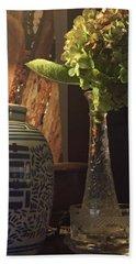 Summer Hydrangeas Beach Sheet by Lehua Pekelo-Stearns