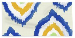 Summer Ikat- Art By Linda Woods Beach Towel