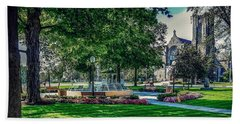 Beach Towel featuring the photograph Summer In Juckett Park by Kendall McKernon