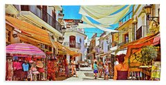 Beach Towel featuring the photograph Summer In Malaga by Mary Machare