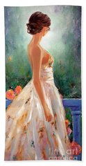 Beach Towel featuring the painting Summer In Provence by Michael Rock