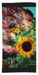 Summer In The City - Sunflowers Beach Towel