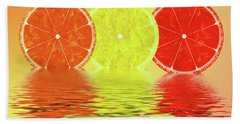 Orange,lemon,blood Orange Beach Towel