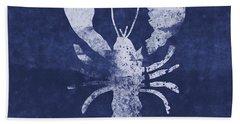 Summer Lobster- Art By Linda Woods Beach Towel
