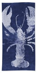 Summer Lobster- Art By Linda Woods Beach Towel