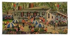 Summer Memories At Pizzi Farm Beach Sheet by Rita Brown