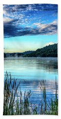 Summer Morning On The Lake Beach Towel