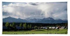 Beach Towel featuring the photograph Summer Mountain Paradise by Jason Coward
