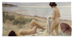 Summer On The Beach Beach Sheet by Paul Fischer