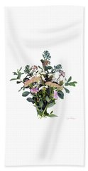 Summer Perrenials Beach Towel