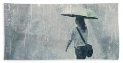 Summer Rain Beach Towel by LemonArt Photography