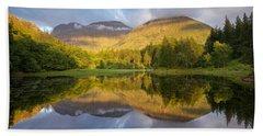 Summer Reflections At The Torren Lochan Beach Sheet