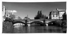 Summer, River Welland Stone Road Bridge, Stamford Meadows, Georg Beach Towel