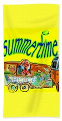 Summer Roadtrips Fun  Beach Sheet