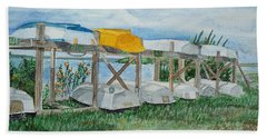 Summer Row Boats Beach Sheet