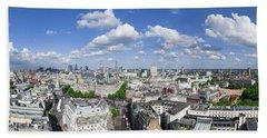 Summer Skies Over London Beach Towel
