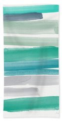 Summer Sky Beach Towel by Linda Woods