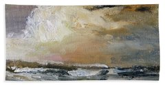 Beach Towel featuring the painting Summer Sky by Michael Helfen