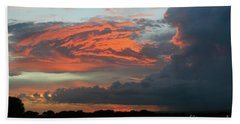 Summer Sky On Fire  Beach Towel