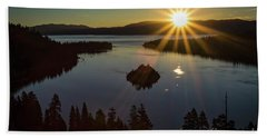 Beach Sheet featuring the photograph Summer Solstice Emerald Bay by Mitch Shindelbower