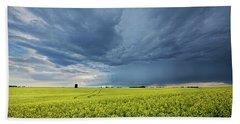 Summer Storm Over Alberta Beach Towel