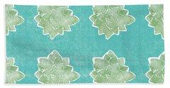 Summer Succulents- Art By Linda Woods Beach Towel