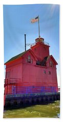 Beach Sheet featuring the photograph Summer Sun And Big Red by Michelle Calkins