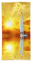 Summer Sun And Fun Beach Towel by Gabriella Weninger - David