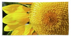 Beach Towel featuring the photograph Summer Sunflower Painterly by Andee Design