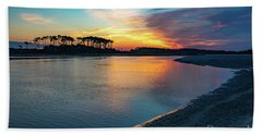 Summer Sunrise At The Inlet Beach Towel