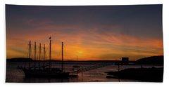 Summer Sunrise In Bar Harbor Beach Towel