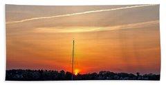 Summer Sunset At Anchor Beach Towel