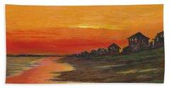 Summer Sunset At  Crystal Beach Beach Sheet