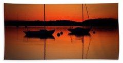 Summer Sunset Calm Anchor Beach Towel
