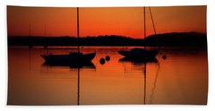 Summer Sunset Calm Anchor Beach Towel