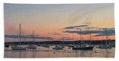 Summer Sunset In Boothbay Harbor Beach Sheet