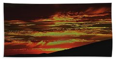 Summer Sunset Rain Beach Towel