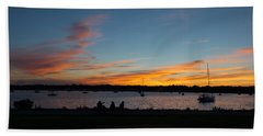 Summer Sunset With Friends Beach Towel