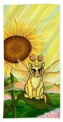 Summer Sunshine Fairy Cat Beach Towel