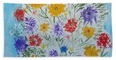 Beach Sheet featuring the painting Summer Tee by Barbara McDevitt