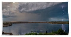 Summer Thunderstorm Beach Towel